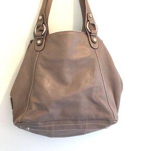 Tignanello Bags - Tignanello leather handbag gray-ish large EUC